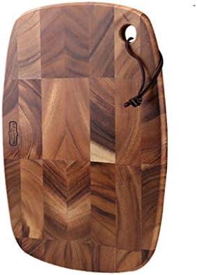 LQQGXLまな板カッティングボードキット ソリッドオーク木製のまな板の-320mm X 220ミリメートルの楕円形広葉樹の切断と彫刻のサービスブロック