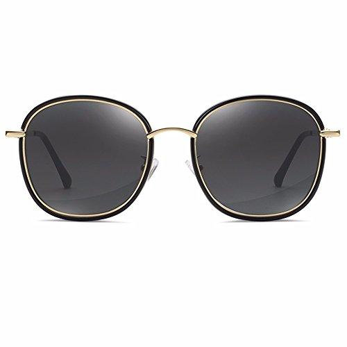 cara caja Rosa un gafas de XIAOGEGE big brillo elegante gafas de mujer alto box es La sol Negro sol redonda de fFnW1HO
