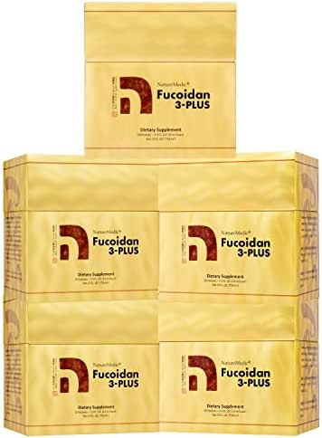 NatureMedic Fucoidan 3Plus Brown Seaweed Immunity Supplement with Organic 50 Liquid Packets/Box Made in Japan (5)