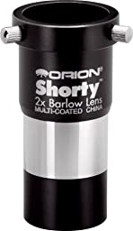 Orion 08711 Shorty 1.25-Inch 2x Barlow Lens (Black)