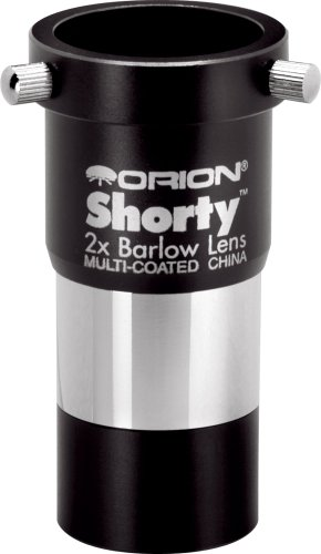 Orion 08711 Shorty 1.25-Inch 2x Barlow Lens (Black) by Orion
