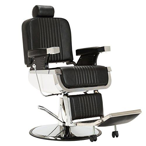Barberpub All Purpose Hydraulic Recline Professional Vintage Lincoln Barber Chair Salon Equipment 8740