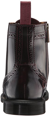 Dr Cherry Red Boots Leather 6 Delphine Womens Eyelet martens 6rq8Bp6wz