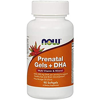 Amazon com: NOW Supplements, Prenatal Gels + DHA with 250 mg