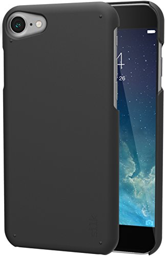 Silk iPhone 7/8 Slim Case - Snap Shell for iPhone 7/8 [Ultra Slim Fit Soft-Touch Protective Cover] - Black Onyx