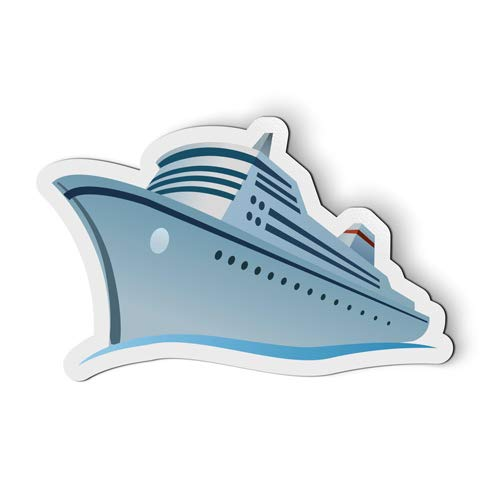 - Cruise Ship - Flexible Magnet - Car Fridge Locker - 5.5
