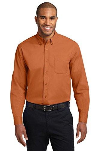(Joe's USA Mens Long Sleeve Wrinkle Resistant Easy Care Shirt-2X-Texas)