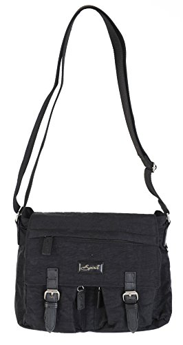 FAB SHOULDER 9886 BAG SATCHEL COLOURS LIGHTWEIGHT Black STYLE Spirit CROSSBODY HANDBAG n1wYFffq