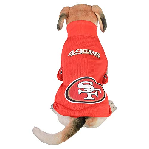 Wasan Dog T-Shirt Clothes Dogs Costume 49ers American Football Rugby Jersey for Pet Size L ()