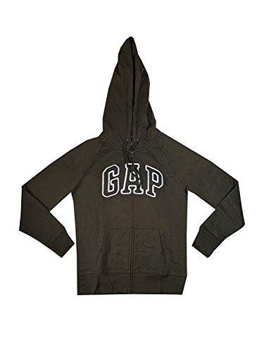 Olive Womens Arch - GAP Womens Fleece Arch Logo Full Zip Hoodie (XL, Olive)