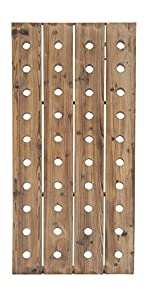 "Deco 79 55409 Extra Large Rustic Reclaimed Wood Hanging Wine Rack | 40 Bottle Pegboard, 21"" x 57"""