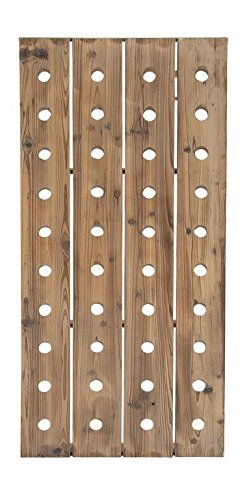 Deco 79 Wood Wine Rack, 57 by 21-Inch (Riddling Wine Rack)