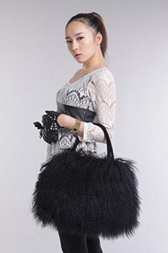 Pochettes Sacs Chaud Sac Plus Sacs Vogueearth Mongolie portés Violet portés Femme'Réel De bandoulière Sacs Sacs Sacs à Fourrure baguette Agneau épaule main Hiver menotte Main Cabas 18qg0qwf