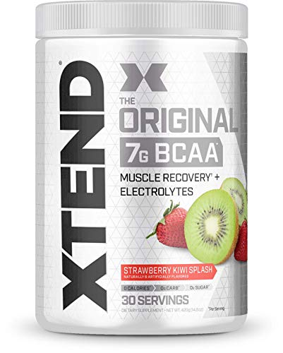 Scivation Xtend BCAA Powder, 7g BCAAs, Branched Chain Amino Acids, Keto Friendly, Strawberry Kiwi Splash, 30 Servings