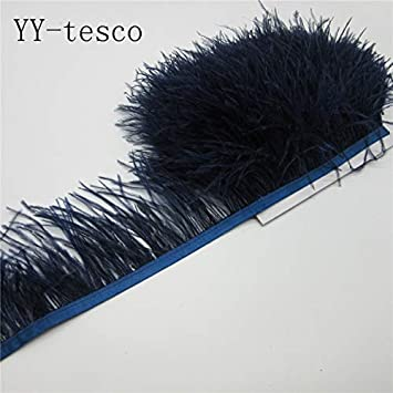Maslin - Ribetes de plumas de avestruz para falda, vestido o cinta ...