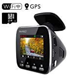 Dash Cam Dashboard Recording Camera - AKASO V1 Car Recorder with Sony Sensor, 1296P FHD, GPS, G-Sensor, WiFi with Phone APP, Night Vision, Loop Record, Parking Monitor, 170°Wide Angle, with 16GB Card