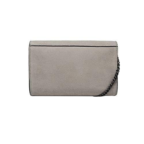 Borsa Camoscio Pelle Catena Liscia Pochette Chiaro Tracola Metallo Tortora Made myitalianbag In Spalla A E Accessori Rachel Italy OPHqqwn5