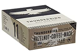 Thunderbird Gluten Free Non-GMO Vegan Hazelnut Coffee Maca Bars, 1.7 Oz. - Pack of 15