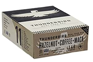 Thunderbird Gluten Free Non-GMO Vegan Hazelnut Coffee Maca Bars, 1.7 Oz. - Pack of 15