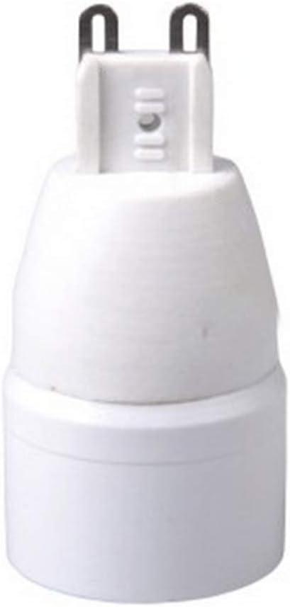 Support Lampe 4Pcs Sy Installation Maison Ignifuge Base Convertisseur /Énergie /Économie H/ôtel G9 pour E14 Adaptateur Ampoule Douille Pratique