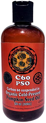 Carbon 60 Research Grade C60 in Organic Pumpkin Seed Oil | 500 ml 99.95% Pure | Vacuum Oven Dried | Shipped in Amber Glass Bottle for Freshness | Created in SBR (Small Batch Runs) by Body Symphony