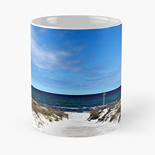 Blue Sky Ocean Baltic Sea Sand - 11oz Novetly Ceramic Cups, Unique Birthday And Holiday Gifts For Mom Mother Wife Women.