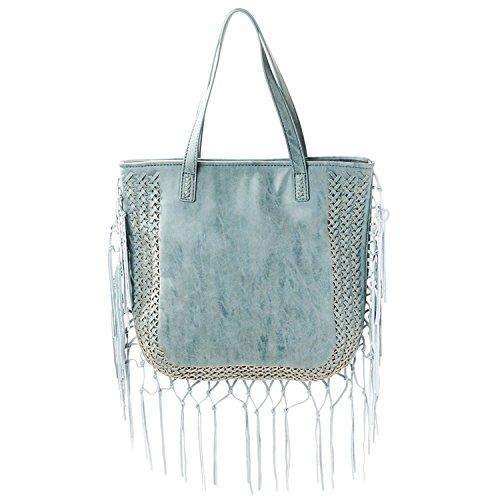 STEVEN Shay Tote Handbag (Blue)