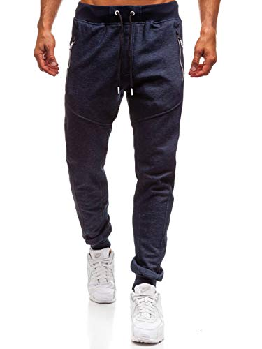 Urbano Oscuro Hombre Gimnasio Estilo Jogger Entrenamiento Bolsillos Azul Deportivo tc879 BOLF 6F6 Pantalón xPYAqw0dP8