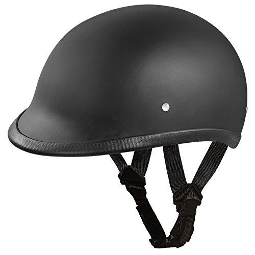 Daytona Helmets Hawk Polo Style Half Shell Helmet (Dull Black, Large) with Head Wrap and Draw String Bag (Helmets Daytona Dot)