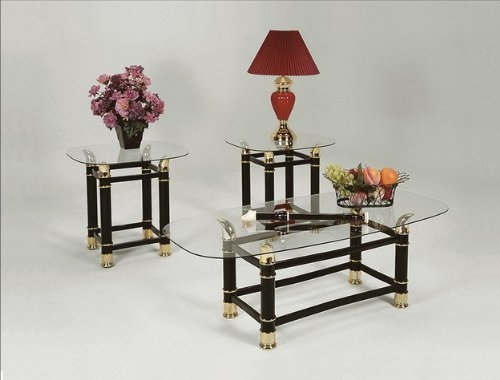 Brand New 3-pk Horn Coffee Table (1)and End Table (2) Cocktail set by Click 2 Go