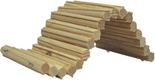 Small Flexible Wood Ladder Hideout for Hamster, Rat. 9