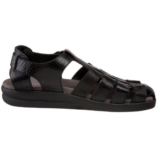 Mephisto Mens Sam Leather Sandals nero