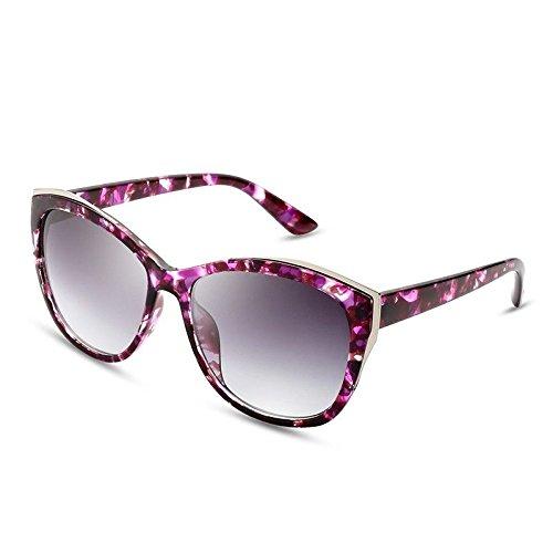 Flower Mujer de PC del Frame a Frame para Lujo Sunglasses TL el guiar Cat Espalda Flor Gafas Gafas de Sol polarizadas Señor no Redonda PqBxx5I1wn