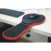 Reposabrazos ajustable superior para la muñeca del reposabrazos para computadora - Escritorio y silla Soporte de brazo de computadora de hogar y oficina acoplable de doble propósito - Almohadilla para el mouse de diseño ergonómico Extensor de mesa para