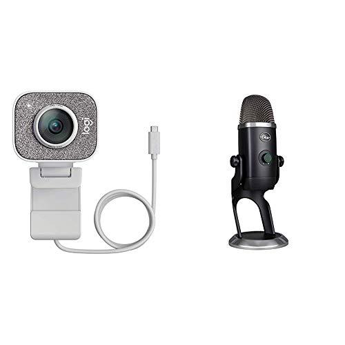 🥇 Logitech StreamCam Cámara Web para Streaming de vídeo en Tiempo Real + Blue Yeti X Micrófono Condensador USB