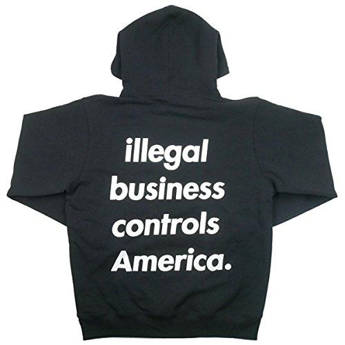SUPREME シュプリーム 18SS Illegal Business Hooded Sweatshirt スウェットパーカー 黒 XL 並行輸入品 B079WSD16J