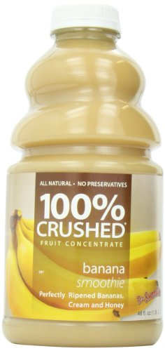 - Dr. Smoothie Banana Smoothie 100% Crushed Fruit Smoothie Bottles, 46-Ounce