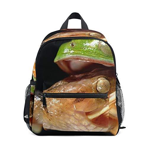 Kids Backpack Life Struggle Frog Snake School Backpacks Cool Bag Campus Daypack Gift