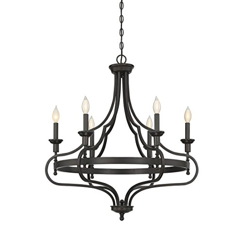 Savoy House 1-9082-6-13 Sheilds 6-Light Chandelier in English Bronze Finish For Sale