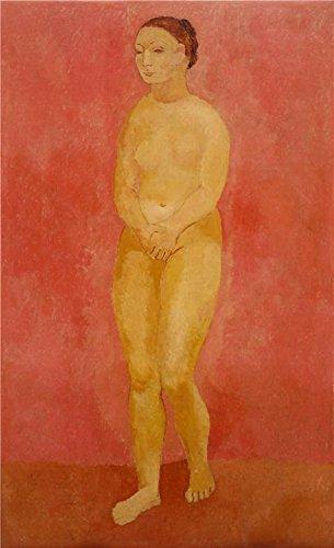 Oil painting ` Nude with Joined手`印刷ポリエステルキャンバスに、30x 49インチ/ 76x 125cm、最高のパウダールームアートワークとホームデコレーションとギフトはこのVividアート装飾プリントキャンバスの商品画像