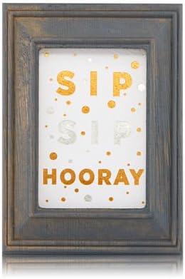 【Bath&Body Works/バス&ボディワークス】 ルームフレグランス プラグインスターター (本体のみ) ウッドフレーム ゴールド シルバー Wallflowers Fragrance Plug Wooden Sip Sip Hooray Frame [並行輸入品]
