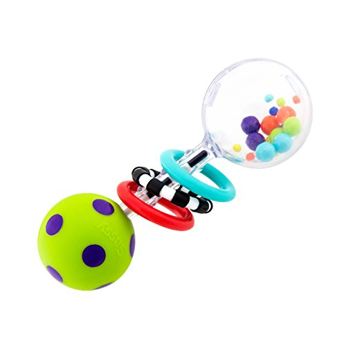 Sassy Spin Shine Rattle Developmental Toy (Colors May Vary)