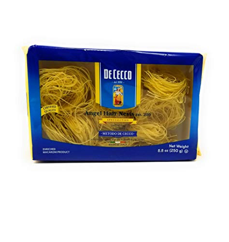 De Cecco Semolina Pasta, Angel Hair Nests No. 209, 8.8 Ounce (Pack of 5)