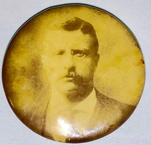 VINTAGE THEODORE ROOSEVELT POLITICAL CAMPAIGN PIN PINBACK BUTTON 3/4