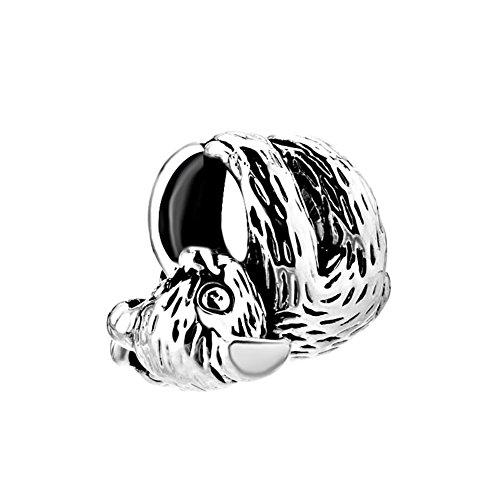 Q&Locket 925 Sterling Silver Koala Bear Charm For Bracelet