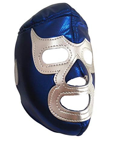 Blue Demon Lucha Libre Mexicana Luchador Mexican Wrestling Mask Costume Adult Size, Blue, One Size ()