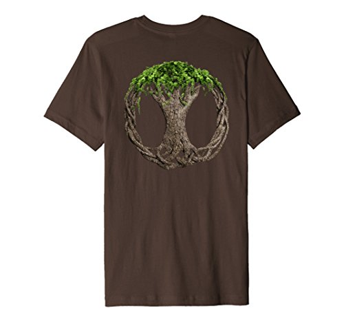 Mens Celtic Knot Tree Of Life T-Shirt 3XL Brown