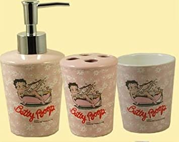 Amazon.com: Betty Boop Bathroom 3 Pcs Ceramic Set, Tumbler , Tooth ...