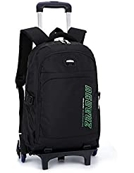 YUB Trolley School Bags Student Boys Rolling Backpack Schoolbag Waterproof