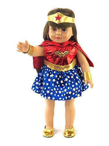 American Fashion World Wonder Woman Inspired Outfit with Shoes | 18 Inch Doll Clothes ()